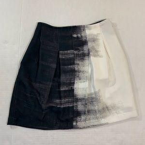 Vince Ombré Black White Skirt 0